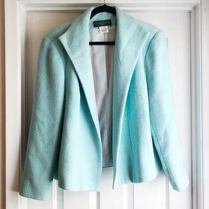 HARVE BENARD Vintage Wool Jacket Mint Blue 18W